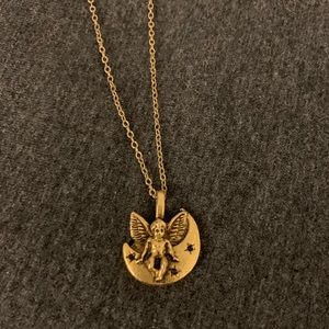 Jewelry - Gold Angel Moon Necklace!